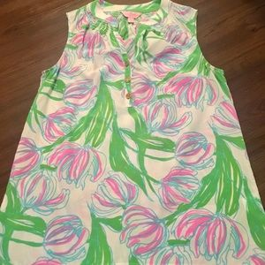 """Lilly Pulitzer Houston top """"Ring the bell boy"""" XS"""
